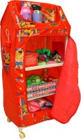 Asquare Mart PP Collapsible Wardrobe(Finish Color - Red)