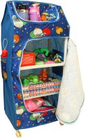 Asquare Mart PP Collapsible Wardrobe(Finish Color - Blue)