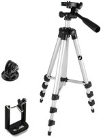 MobFest Portable Tripod-3110 Digital Camera Mobile Stand Tripod Tripod(Black, Silver, Supports Up to 1500)