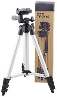 MobFest Tripod-3110 40.2 Inch Portable Camera Tripod With Three-Dimensional Head & Quick Release Tripod(Black, Silver, Supports Up to 1000)