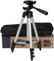 MobFest Way Adjustable Head Aluminum-Tripod With Bracket Tripod(Black, Silver, Supports Up to 1500)