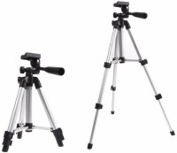 MobFest Tripod-3110 40.2 Inch Portable Camera Tripod With Three-Dimensional Head & Quick Release Plate Tripod(Black, Silver, Supports Up to 2000)