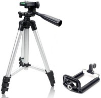 MobFest 3110 TRIPOD Mobile Tripod, Camera Tripod, Tripod For Mobile, Tripod For Camera, DSLR Tripod(Black, Silver, Supports Up to 1000)