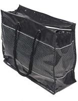 Srajanaa High Quality PVC Material Black Color White Dotted Picnic/Multi Purpose Bag Waterproof Multipurpose Bag(Black, 35 L)