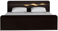 HomeTown Engineered Wood Queen Bed(Finish Color -  Wenge)
