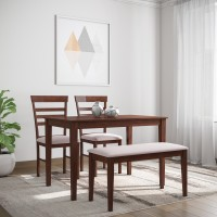 Flipkart Perfect Homes Hayman Solid Wood 4 Seater Dining Set(Finish Color - Walnut)