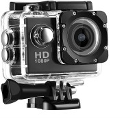 SPRING JUMP 1080P Action Camera Waterproof & Wide Angle Sports and Action Camera(Black, 12 MP)