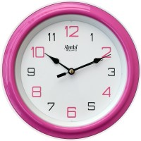 Ajanta Analog 20 cm X 20 cm Wall Clock(Pink, With Glass)