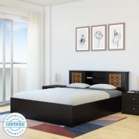 Flipkart Perfect Homes Rhapsody Engineered Wood King Box Bed(Finish Color -  Wenge)
