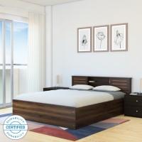 Flipkart Perfect Homes Waltz Engineered Wood Queen Box Bed(Finish Color -  Walnut)