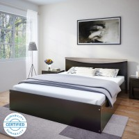 Flipkart Perfect Homes Carol Engineered Wood King Bed(Finish Color -  Wenge)