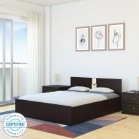 Flipkart Perfect Homes Rondo Engineered Wood King Box Bed(Finish Color -  Dark Wenge/Wenge)