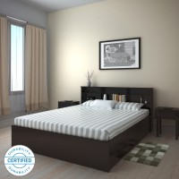 Flipkart Perfect Homes Opus Engineered Wood Queen Box Bed(Finish Color -  Wenge)