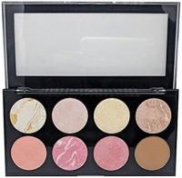 SIVANNA Women's Colors Pro HD Blusher/Highlighter/Contour Palette, 18g(MULTI)