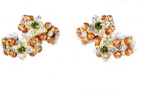 THE HOLY MART Orange star pearl diamond studed Bangles(L size) Deity Ornament(KRISHNA, Balgopal, Govinda, LADOO GOPAL, Hanuman, Radha krishna, Durga Devi, OTHER GODS,)
