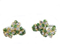THE HOLY MART Green star pearl diamond studed Bangles(M size) Deity Ornament(KRISHNA, Balgopal, Govinda, LADOO GOPAL, Hanuman, Radha krishna, Durga Devi, OTHER GODS,)