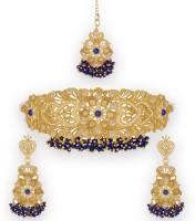 Spargz Alloy Jewel Set(Gold)