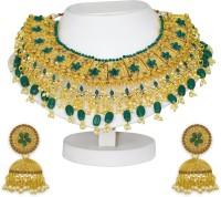 Spargz Alloy Jewel Set(Gold, Green)