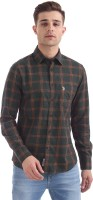 U.S. Polo Assn Men's Checkered Casual Green Shirt