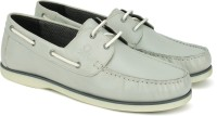 United Colors of Benetton Boat Shoes For Men(Grey)