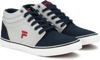 Fila ALFIO PLUS Canvas Shoes For Men(Navy, Grey, Red)