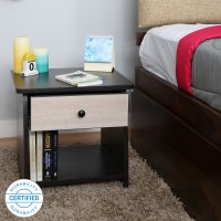 Valtos Engineered Wood Bedside Table(Finish Color - Wenge)