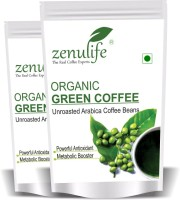 zenulife Organic Green Coffee beans for Weight Loss (Unroasted Arabica) - 250 GM Pack of 2 Instant Coffee(2 x 125 g, Unflavoured, Green Coffee Flavoured)