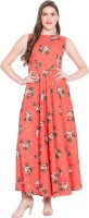 Rudraaksha Women Fit and Flare Pink Dress