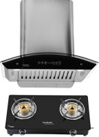 Hindware Cleo 60  Plus Brio 2B Auto Clean Wall Mounted Chimney(Brush Silver 1200 CMH)