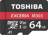 Toshiba EXCERIA M303 A1 64 GB MicroSD Card UHS Class 1 98  Memory Card