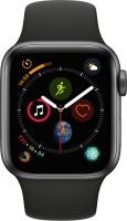 Apple Watch Series 4 GPS, 40 mm Space Grey Aluminium Case with Black Sport Band(Black Strap Regular) Flipkart Rs. 34900.00