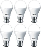 Philips 9 W Round B22 LED Bulb(White, Pack of 6)