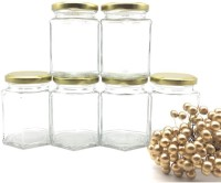 Satyam Kraft Hexagon Glass Jar and Container(220 ml) with Rust Proof Air Tight Lid ,suitable to use in your home office ,kitchen storage /glass jars set /glass jars for kitchen /glass jar containers /glass jar for gift /glass jar and containers for storage /glass jar for storage /glass jar for spice