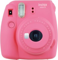 FUJIFILM Instax camera Mini 9 Joy Box with Instant Camera + Twin Film Pack + Carry Case + Photo Frames & Albums - Flamingo Pink Instant Camera(Pink)