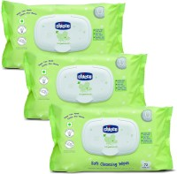 Chicco Soft Cleansing Wipes 72 pieces ( pack of 3)(3 Pieces)
