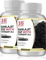 16 Again Shilajit x2 with Tonkat Ali - 800mg 60 capsule (Health Supplement) Pack of 2(120 No)