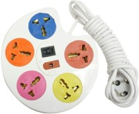 SHOPTICO Extension Cord Board with 5 Socket 5  Socket Extension Boards(Multicolor)