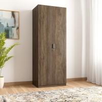 @home by Nilkamal Avery Engineered Wood 2 Door Wardrobe(Finish Color - Wenge)