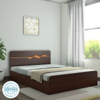 HomeTown Swirl Engineered Wood Queen Box Bed(Finish Color -  Denver Oak & Urban Teak)