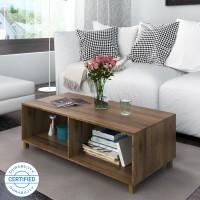 @home by Nilkamal Astero Engineered Wood Coffee Table(Finish Color - Walnut)