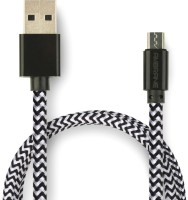 Ambrane CBM-15 1.5m Braided 1.5 m Micro USB Cable(Compatible with Mobile, Tablet, Computer, Gaming Console, White, Black, One Cable)