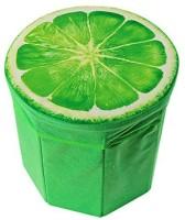 Kids Mandi Creative 3D Lemon Design Multipurpose Foldable Velvet Storage Seat Box Living & Bedroom Stool(Green)
