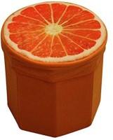 Kids Mandi Creative 3D Orange Design Multipurpose Foldable Velvet Storage Seat Box Living & Bedroom Stool(Orange)