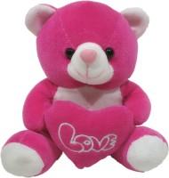Dimpy Stuff Bear W/Heart Rani  - 17 cm(Pink)