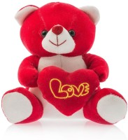 Dimpy Stuff Bear W/Heart Red  - 17 cm(Red)