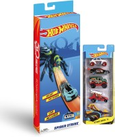 Hot Wheels Gift Pack (Trackset + 5 car pack)(Multicolor)