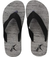 Kraasa Men Hawaii Chappal (Grey) Flip Flops