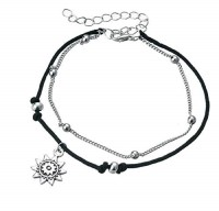Charms Best Selling Italian Designer Silver Plated Alloy Anklet