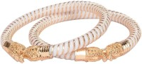 Manikya Copper Gold-plated Bangle Set(Pack of 2)