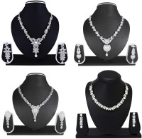 Atasi International Alloy, Crystal Jewel Set(Silver)